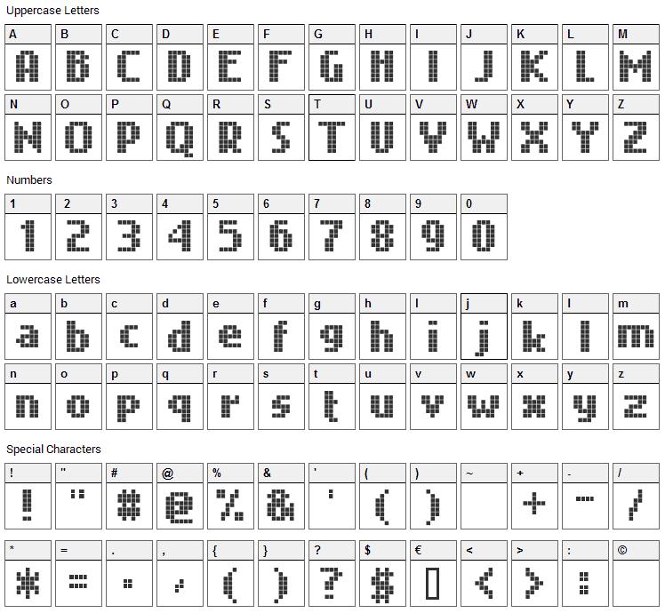 Nokian Font Character Map