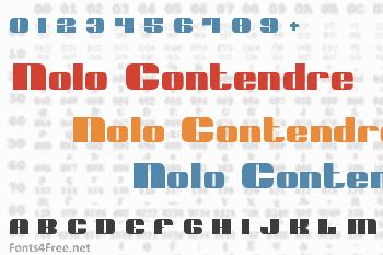 Nolo Contendre Font