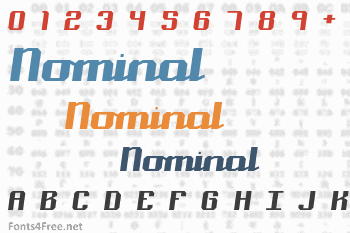 Nominal Font
