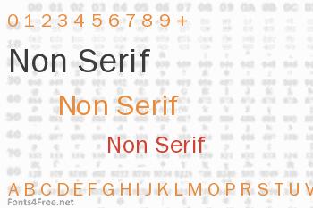 Non Serif Font