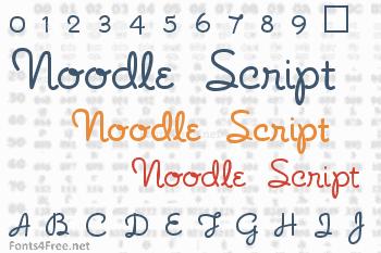 Noodle Script Font