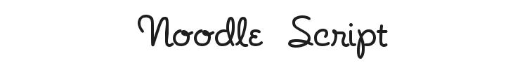 Noodle Script Font Preview