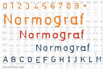 Normograf Font