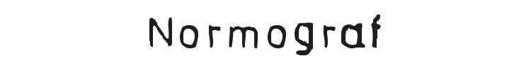 Normograf Font Preview