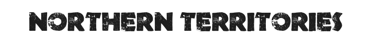 Northern Territories Font Preview