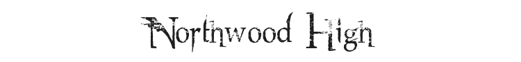 Northwood High Font Preview