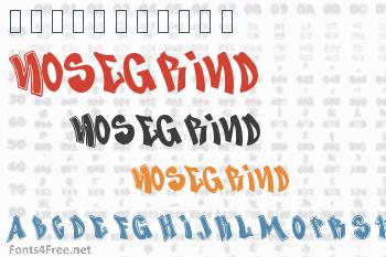 Nosegrind Font