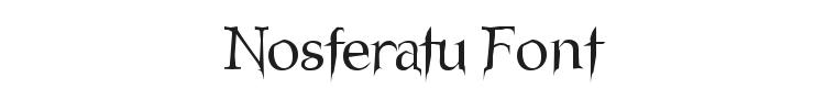 Nosferatu Font Preview