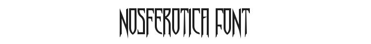 Nosferotica Font Preview