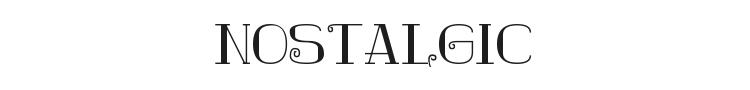 Nostalgic Font Preview