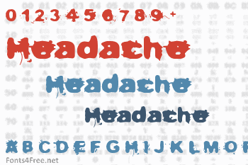 Not now, I have a headache Font
