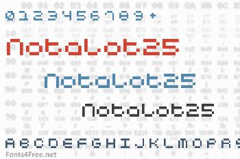 Notalot25 Font