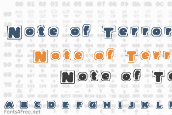 Note of Terror Font