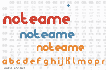 Noteame Font