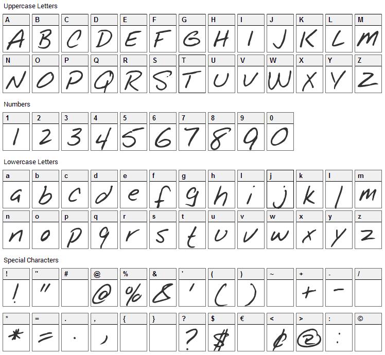 Notepad Font Character Map