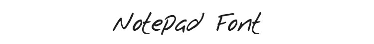 Notepad Font Preview