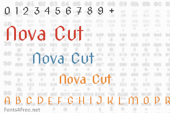 Nova Cut Font