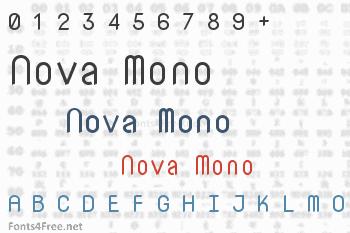 Nova Mono Font