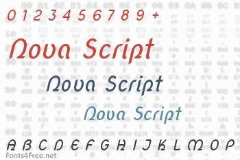 Nova Script Font