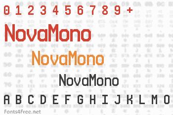 NovaMono Font
