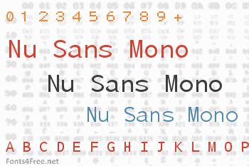 Nu Sans Mono Font