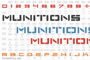 Nu School Munitions Font