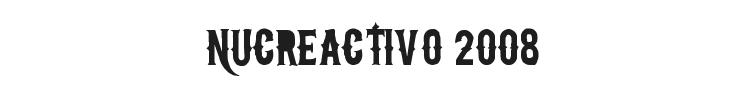 NuCreactivo 2008 Font