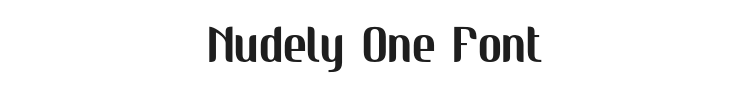 Nudely One Font Preview