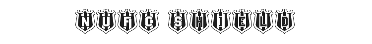 NUFC Shield Font Preview