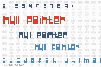 Null Pointer Font