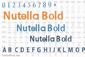 Nutella Bold Font