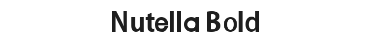 Nutella Bold Font Preview