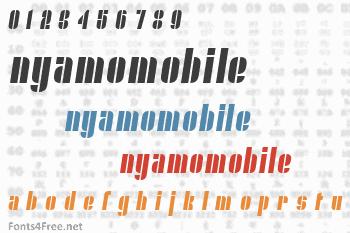 Nyamomobile Font