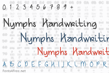 Nymphs Handwriting Font