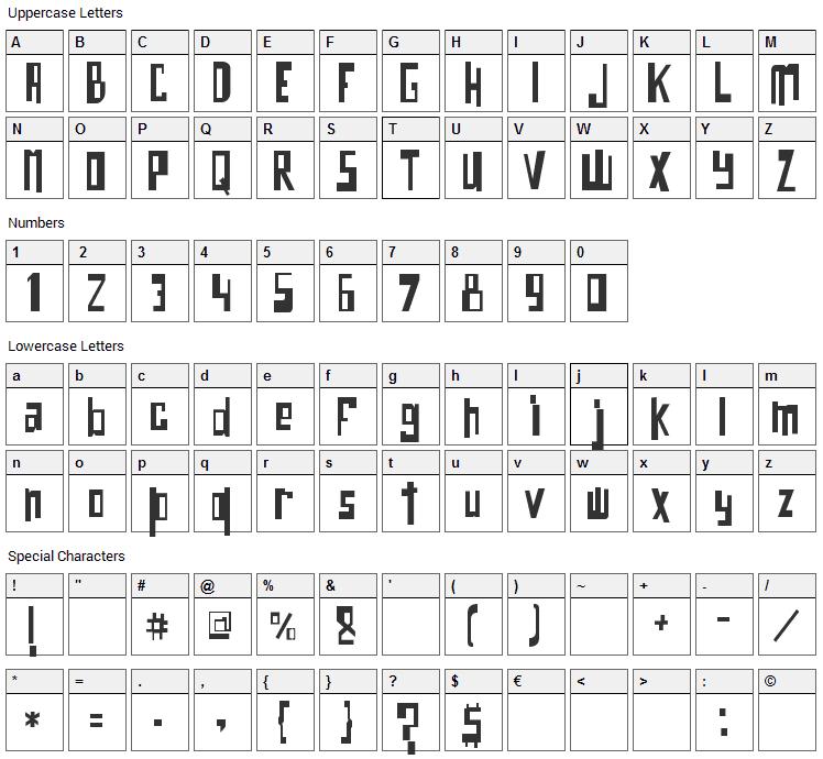 O Bicho Font Character Map