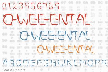 O-Wee-Ental Font