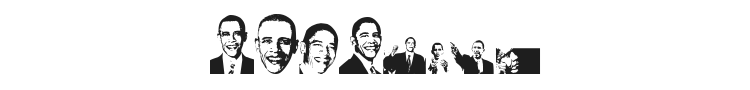 Obama Font Preview