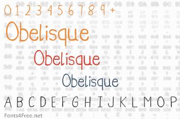 Obelisque Font