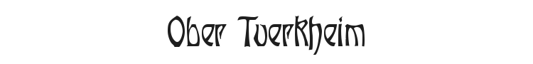 Ober Tuerkheim Font Preview