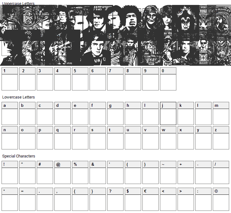 Obey Rockers Font Character Map