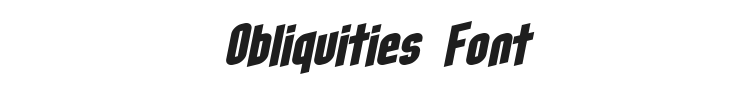 Obliquities Font