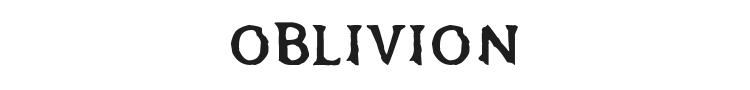 Oblivion Font Preview