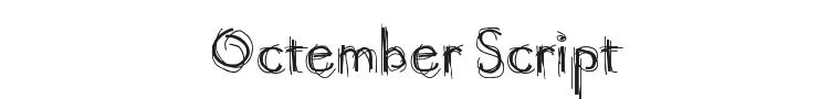 Octember Script Font Preview
