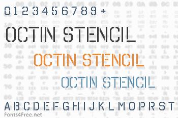 Octin Stencil Font