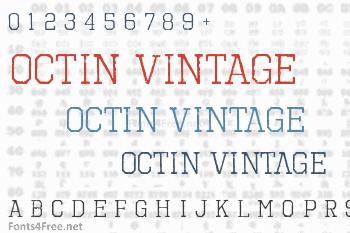 Octin Vintage Font