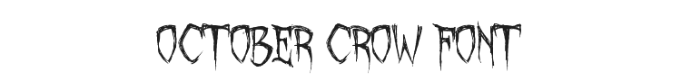 October Crow Font Preview
