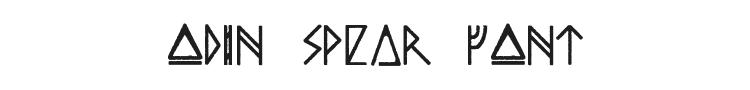 Odin Spear Font
