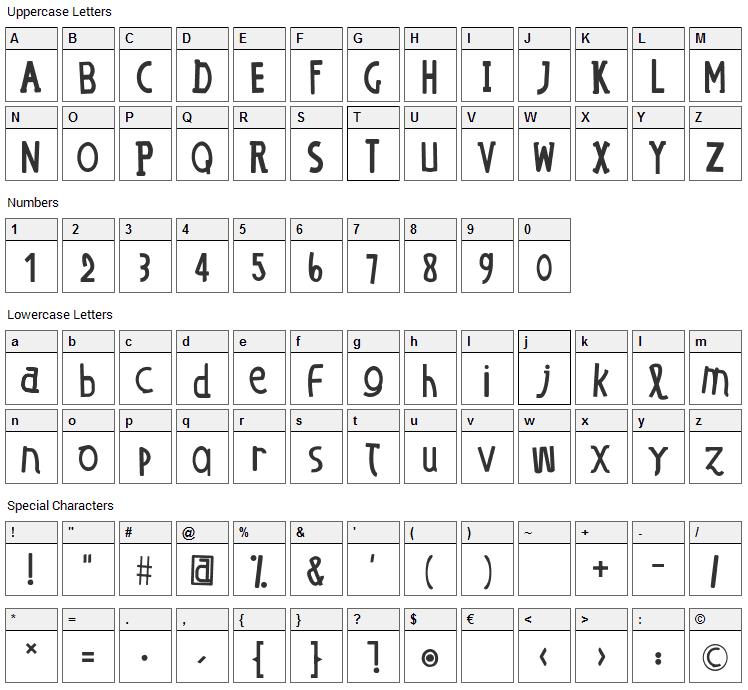 OE dans lO Font Character Map