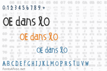 OE dans lO Font