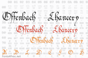 Offenbach Chancery Font